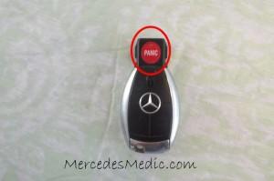 mercedes round chrome key