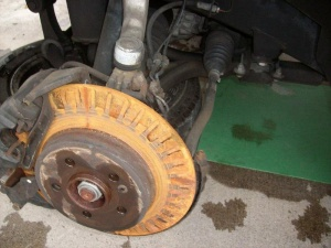Damaged Mercedes Rotor