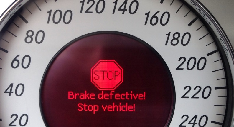 Brake defective Stop Vehicle! SBC Brake Failure Error CODE