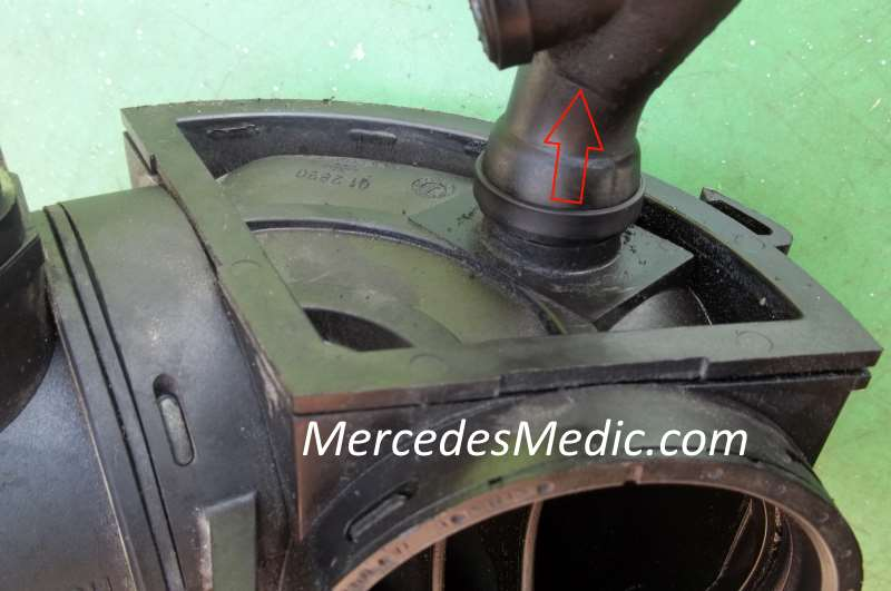 How to replace Mass Air Flow (MAF) Sensor Mercedes Benz V6