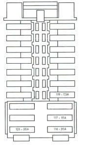 c class w204 2008 2014 fuse list chart box location. Black Bedroom Furniture Sets. Home Design Ideas