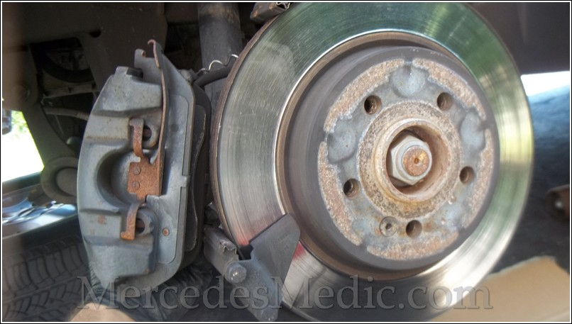 Rear Disc Brake Rotors and Ceramic Brake Pads for 2002 Mercedes-Benz C240 With Two Years Manufacturer Warranty Brake Pads Include Hardware