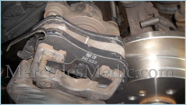 Service Manual Brake Pad Install 2012 Mercedes Benz Slk