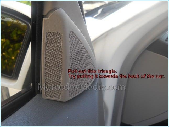 Diy how to fix buzzing noise from door speaker in a for Mercedes benz car radio repair