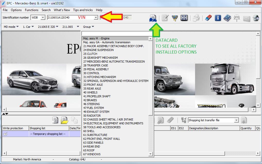 EPC Net Online Lookup Mercedes-Benz parts by VIN – MB Medic