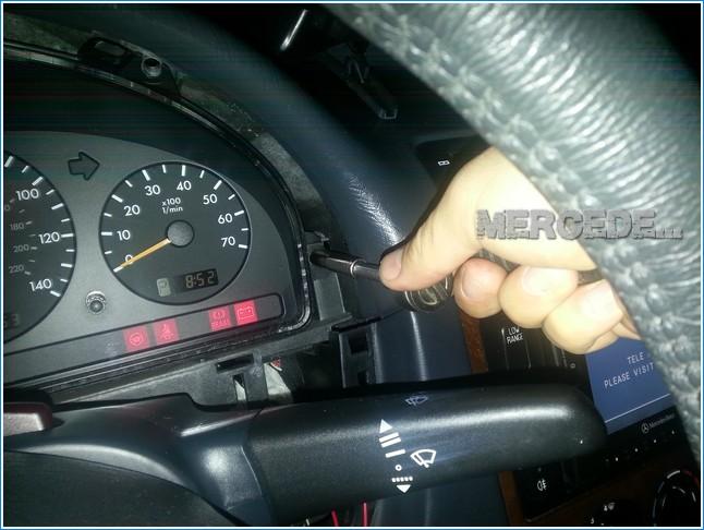 Mercedes ml430 1999 instrument lights bas esp ets for Mercedes benz dashboard lights not working