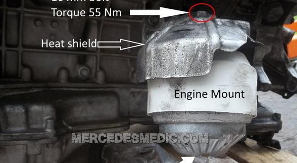 Diy How To Change Engine Mounts Mercedes Benz Mb Medic