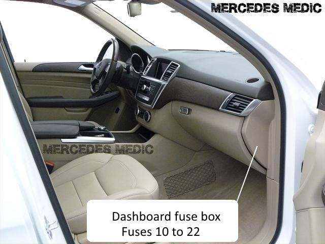 interior fuse box -dashboard, passenger side