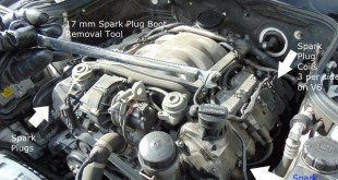 Spark Plug Coil Location Mercedes Benz V6 V8 engine