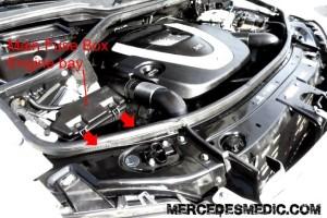 w164 fuse box location engine bay - MB Medic