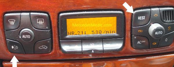 A/C Hidden Menu W220 W215 S-Class – MB Medic