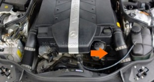 Power steering reservoir location mercedes benz