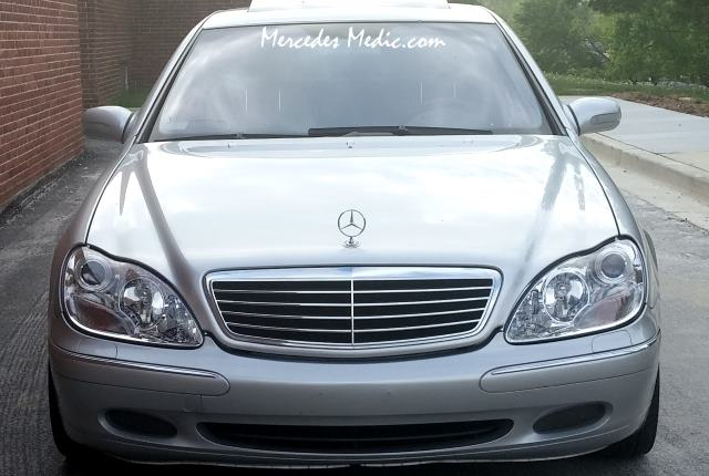 Remove change upgrade s class w220 headlights for Mercedes benz s430 headlight replacement