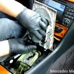 Remove comand system from mercedes e class