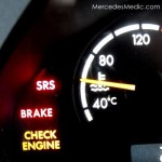 srs brake check engine service light