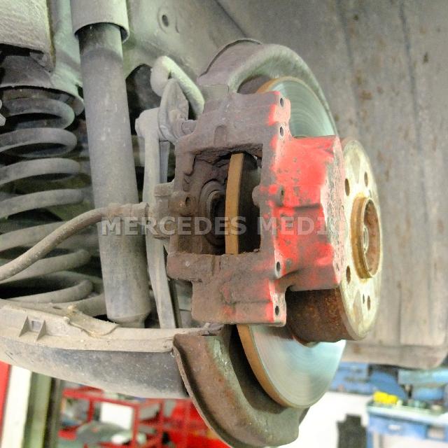 Slk300 slk350 rear brake pad replacement diy for Mercedes benz c300 brake rotors