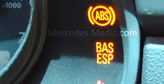 Mercedes ESP light on problem e s c ml class