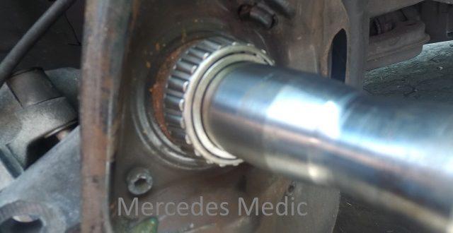 diy slk320 slk230 r170 front wheel bearing replacement