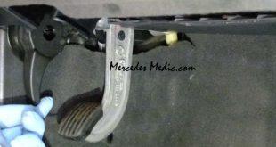 mercedes s-class how to open hood