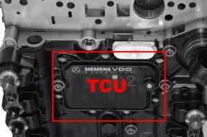 location of tcu on 722.9xx 7 speed transmission