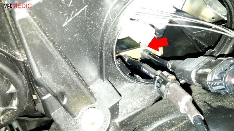 install ballast inside headlight