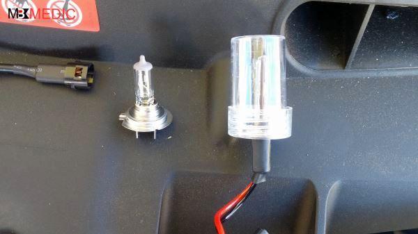 hid xenon bulb mercedes vs h halogen bulb