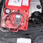 mercedes fuel pressure test kit gauage