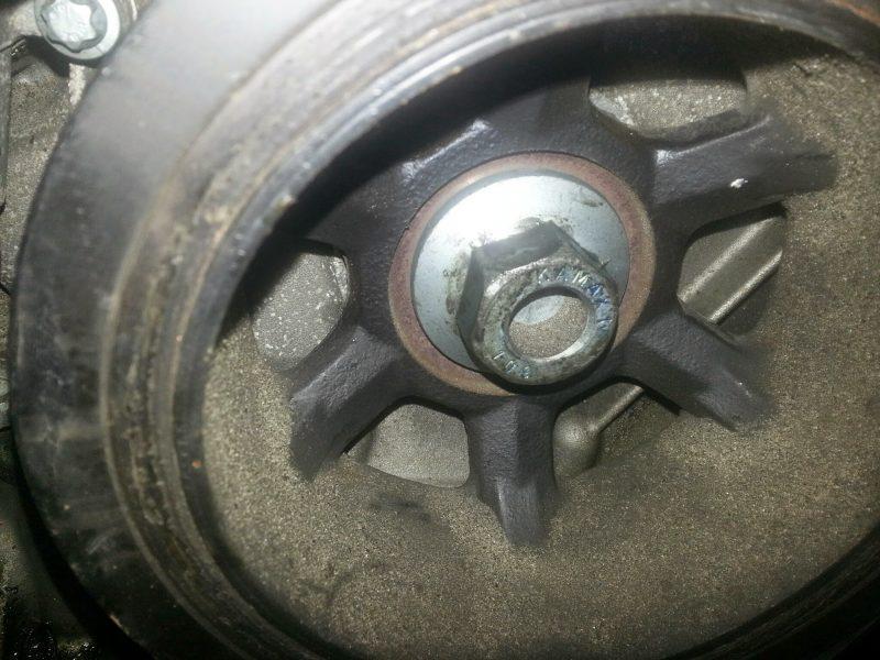 replace harmonic balancer crank shaft
