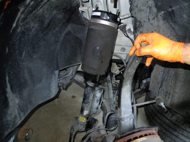 Mercedes Air Suspension Strut Airbag Replacement Diy  U2013 Mb Medic