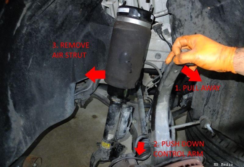 mercedes airmatic strut replacement guide diy