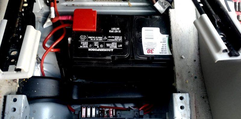 Car battery triggering alarm